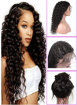 Younsolo Glueless Deep Wave Lace Front Wigs.